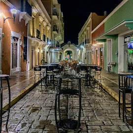 Like in a Ghost Town by Andrius La Rotta Esquivel - City,  Street & Park  Street Scenes ( amazing, mexico, campeche, cityscape, photographer, photography, street photography, street scenes )