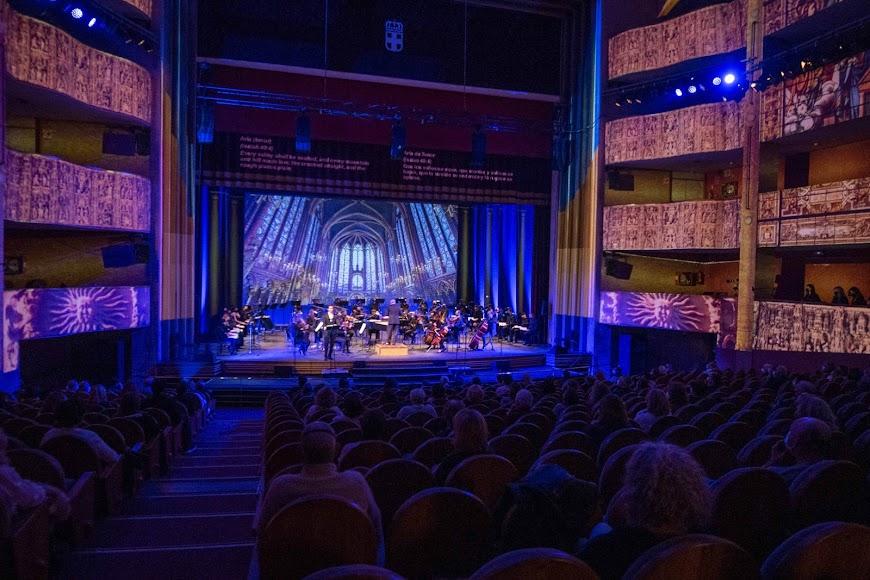 El público pudo disfrutar de casi dos horas de música clásica.
