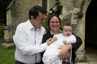 Photo: Me and Kim, left holding the baby