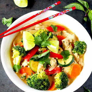Thai Red Curry Chicken with Vegetables.