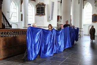 Photo: Verbeelding van het verhaal van Naäman, door de Verbeeldingsgroep o.l.v. Kees van der Zwaard, op 10 november 2013 in de Grote of Barbarakerk te Culemborg - Foto's: Dik Hooijer