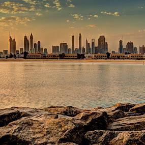 Dubai by RJ Ramoneda - City,  Street & Park  Vistas