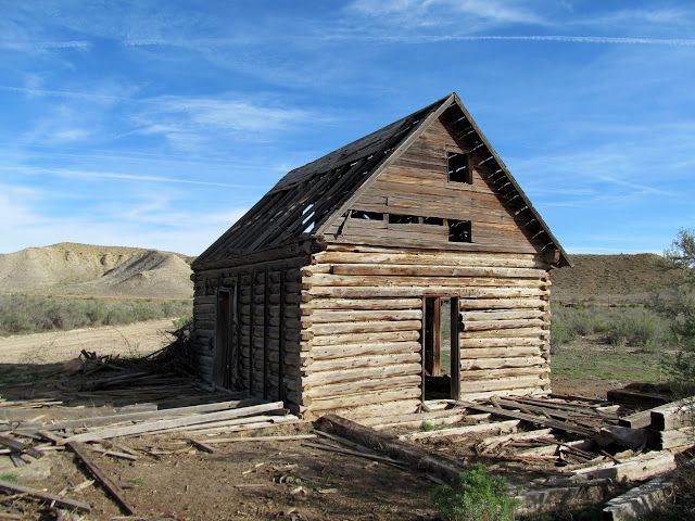 Old log home near Westwater Creek