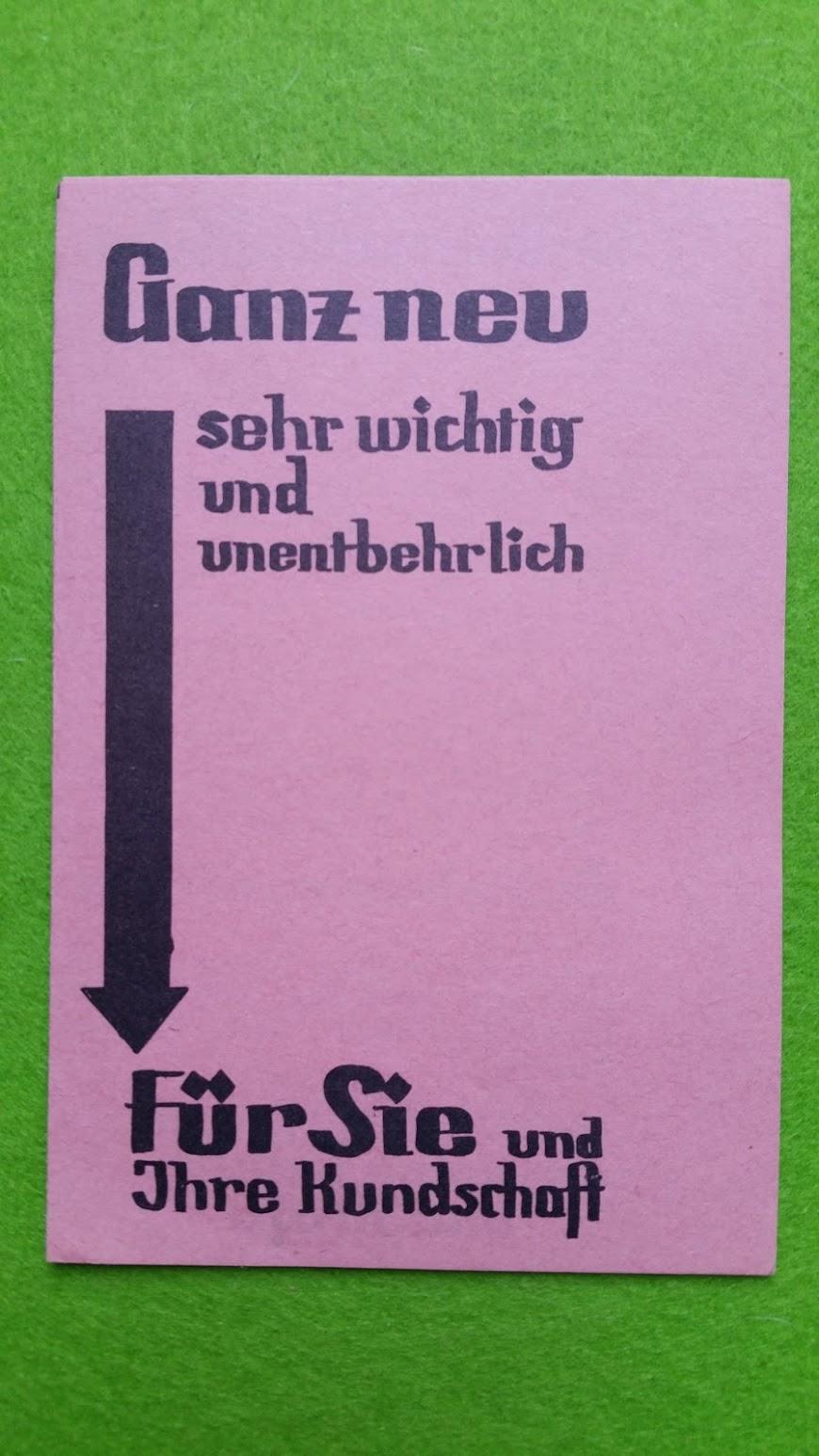 Werbung für die neue Kraftfahrzeug-Verordnung - 1932