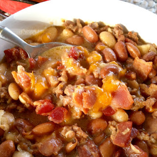 Bean & Bacon Cheeseburger Soup