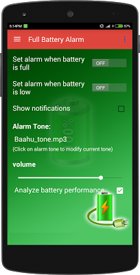 Full Battery Smart Alarm - screenshot