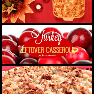 Cranberry Turkey Leftovers Casserole
