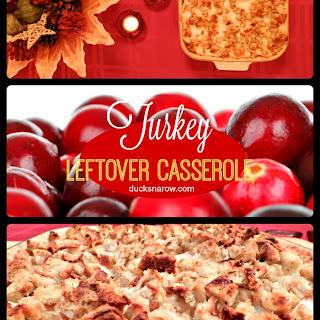 Cranberry Turkey Leftovers Casserole.