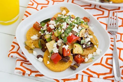 Mexican Baked Polenta with Salsa, Beans, and Veggies