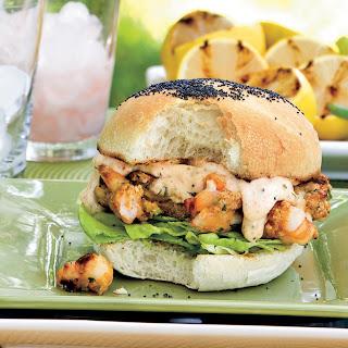 Shrimp Burgers With Sweet 'N' Spicy Tartar Sauce.