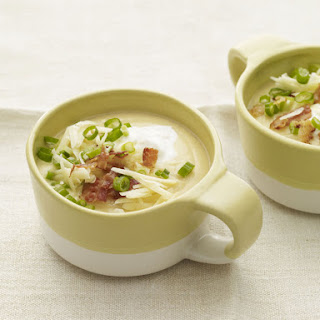 "Creamy Cauliflower ""Baked Potato"" Soup"
