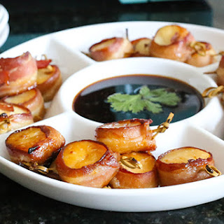 Bacon-Wrapped Scallops.