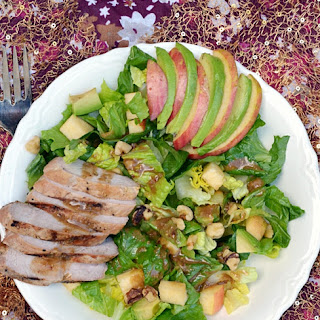 Applewood Smoked Pork, Apple & Walnut Salad.