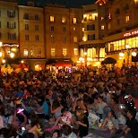 many people getting ready for the closing fireworks show at Tokyo DisneySea in Urayasu, Tiba (Chiba) , Japan