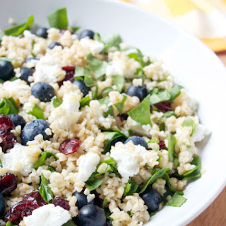 Red White and Blue Bulgur Salad