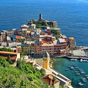 Vernazza, Crown Jewel of the Cinque Terre  by Lanis Rossi - Buildings & Architecture Public & Historical