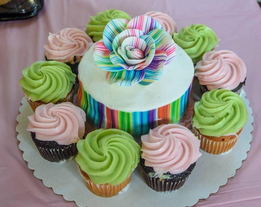 Cupcake Cake by Deborah Lucia - Food & Drink Candy & Dessert ( dessert, cake, wedding, icing, colorful )