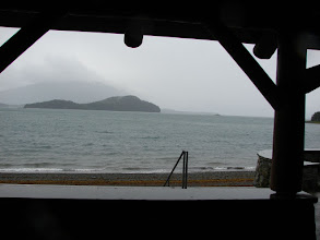 Photo: Auke Bay from a shelter at the campground.