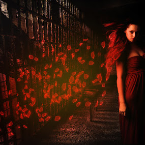 Red Dreams... by Ilkgul Caylak - Digital Art Things ( cool, edited, clouds, beautiful, nice, photography, photooftheday, amazing, girl, sky, awesome, woman, editoftheday, photo editing, photoshop )