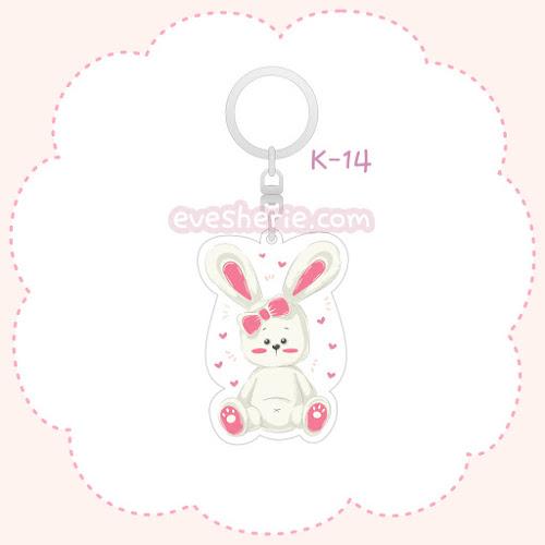 พวงกุญแจอะคริลิค ลายกระต่าย พวงกุญแจกระต่าย