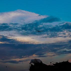 Beautiful Sky by Swati Mukherjee - Landscapes Cloud Formations