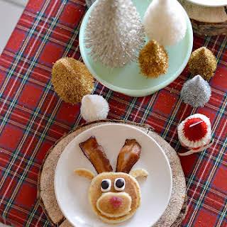 Gluten-Free Mini Reindeer Pancakes.