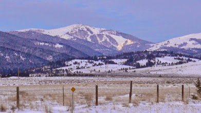 Photo: 7:45 am - view of Great Divide Ski Area on my way to Stemple Pass