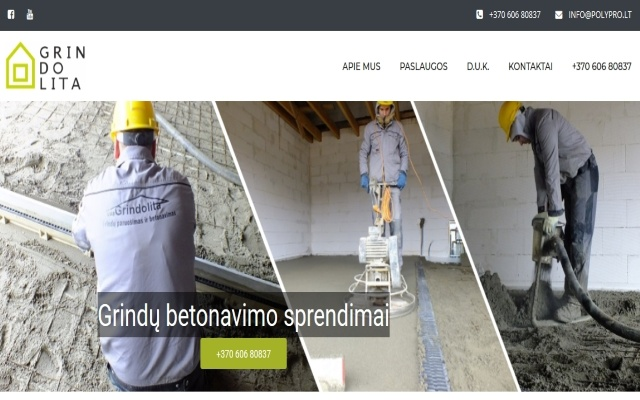 Grindolita.lt - grindu betonavimas