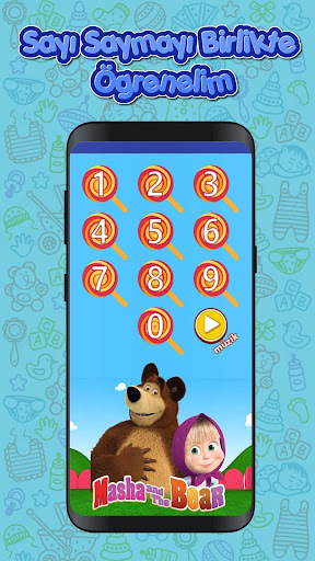 Masha and The Bear Number Saymayu0131 Learn (Child) 1.0 screenshots 3