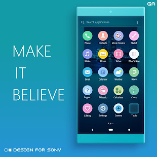 Download LITTLE™ XPERIA Theme | A CYAN  apk screenshot 3