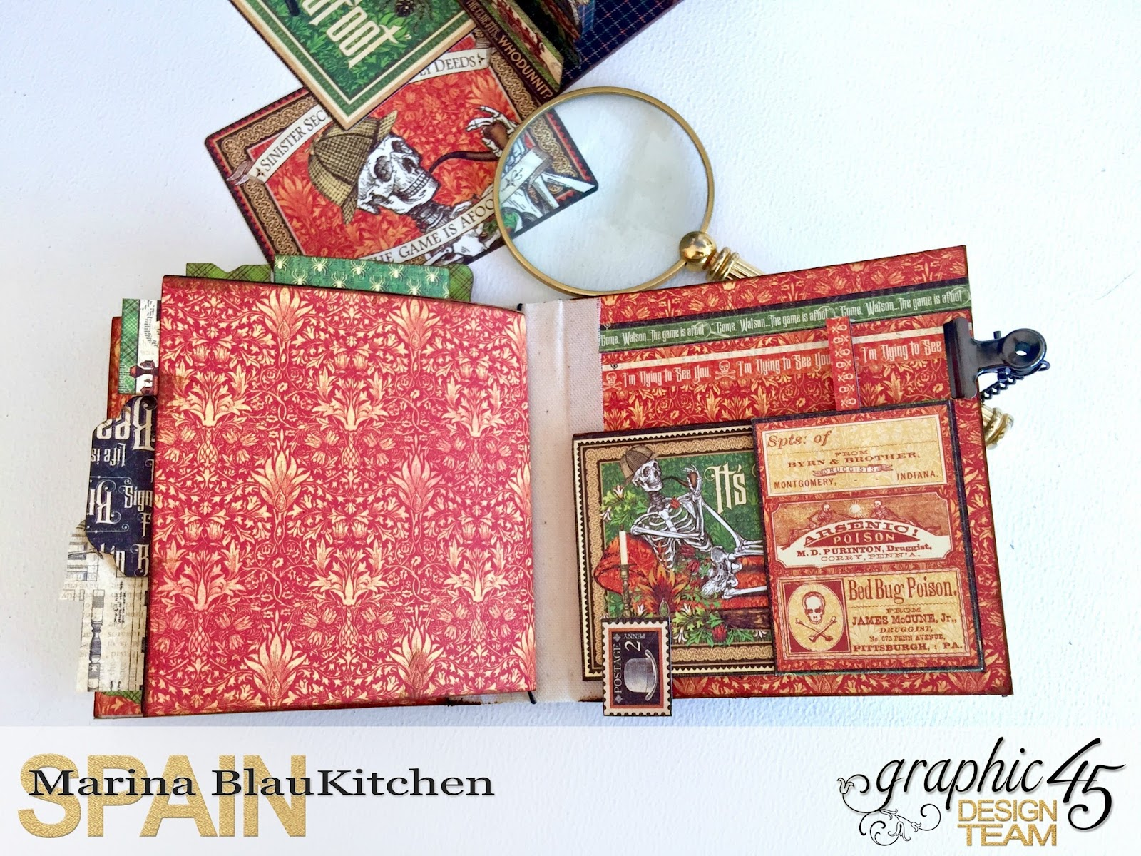 Stand and Mini Album Master Detective by Marina Blaukitchen Product by Graphic 45 photo 25.jpg