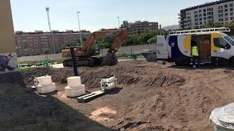 Obras de adecuación para la instalación de una nueva gasolineras en la Carretera de Sierra Alhamilla.