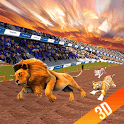 Wild lion, dog, Tiger animal racing simulator 3d icon