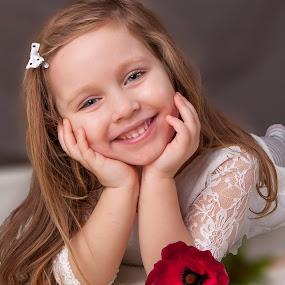 bela by Anna Anastasova - Babies & Children Child Portraits ( little girl, girl, beautiful, baby, portrait )