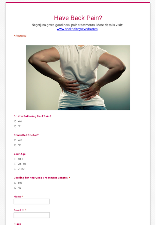 Have Back Pain?