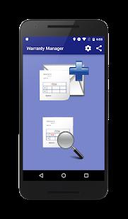 Warranty Manager - náhled