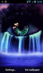 Eye waterfall live wallpaper screenshot 0