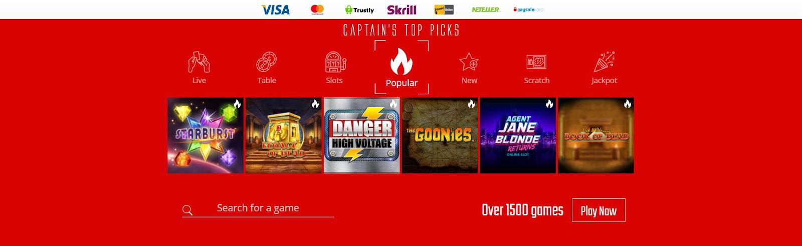 online-casino-games-captain-spins
