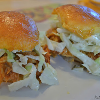 Slow Cooker BBQ Chicken Sliders with Dill Pickle Slaw Recipe