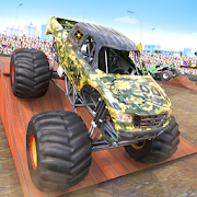 Fearless Army Monster Truck Derby Stunts