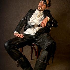 by Soran Sorin - People Portraits of Men (  weird, boots )