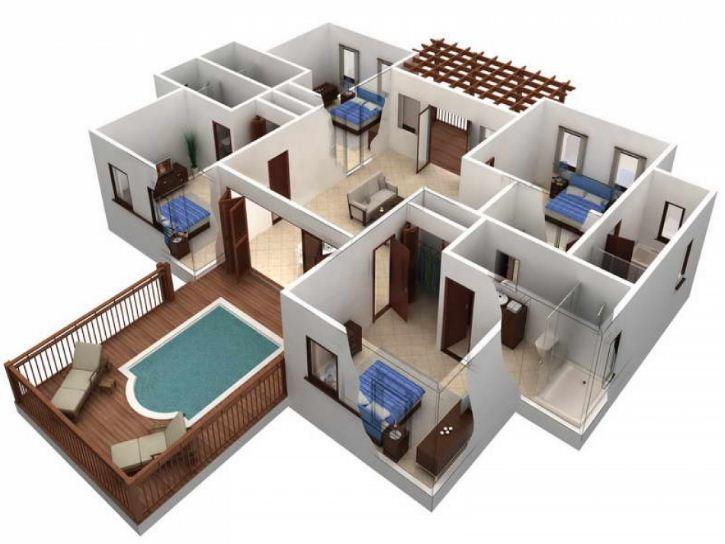 Maison 3D Etage