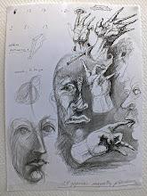 Photo: M.Vilučio posėdžių piešiniai.