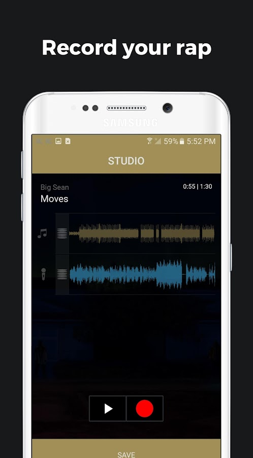 Rapchat - rap recording studio- screenshot