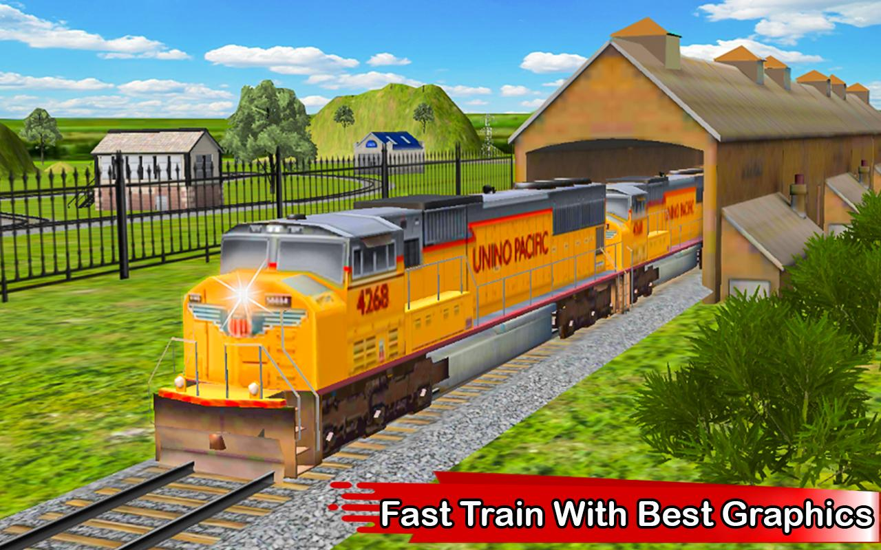 Fast Train Driving Simulator 2018 3D- screenshot
