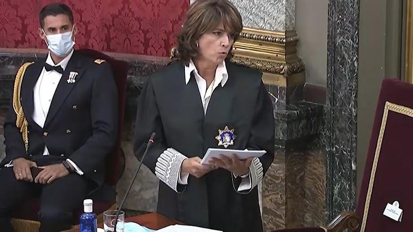Dolores Delgado, fiscal general del Estado, durante la apertura del año judicial.