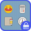 catoon style locker theme icon