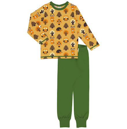 Maxomorra Pyjamas Set LS Yellow Forest
