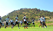 Kaizer Chiefs players go through their paces  during the club's recent  media day   at the club's  Village.