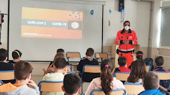 Un momento de la charla impartida en el colegio de Huércal.
